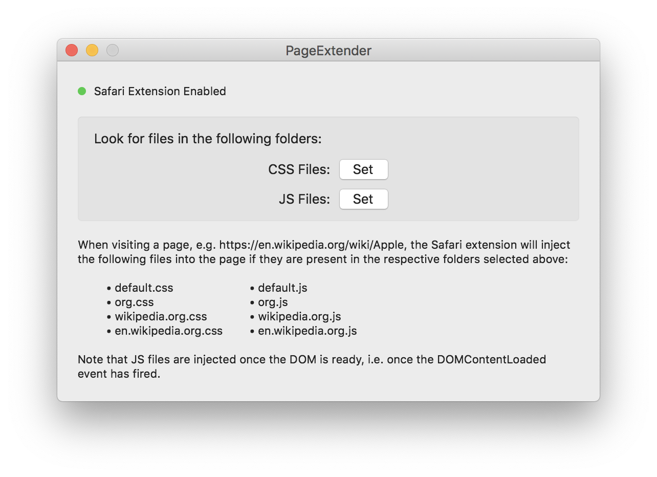 Introducing PageExtender for Safari · Philipe Fatio